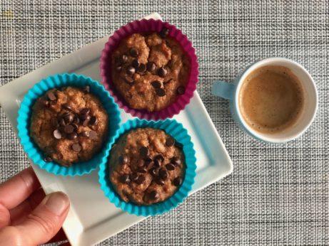 ořechové muffiny bez lepku, mléka a cukru.