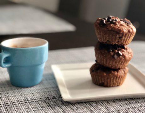 muffiny plné ořechů s vůní skořice. Oblíbená svačinka mých školáků