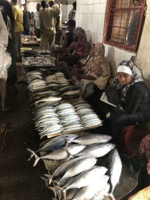 Rybí trhy naZanzibaru (Stone Town).