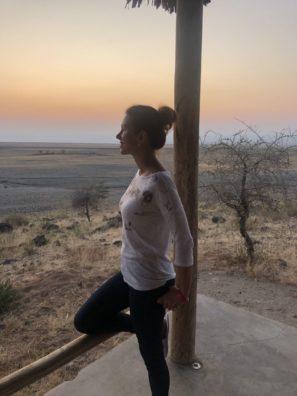 Neuvěřitelný západ slunce vTanzánii kousek od jezera Manyara.